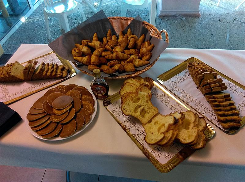 Petit-déjeuner lors d'un séminaire à l'Hôtel Le Grand Air